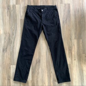 34x34 AG The Lux Khaki Black Tailored Trousers
